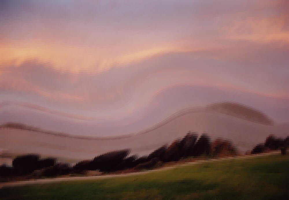 Sunset warped and distorted by caroler