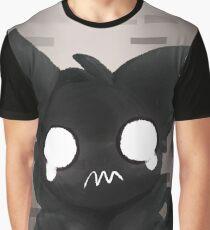 Weird Ghost Cat Graphic T-Shirt
