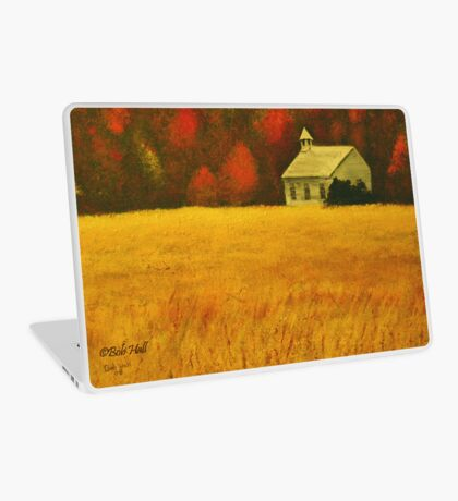 MOUNTAIN AUTUMN, Acrylic Painting, for prints and products Laptop Skin