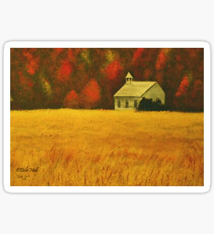 MOUNTAIN AUTUMN, Acrylic Painting, for prints and products Sticker