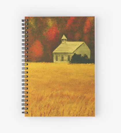MOUNTAIN AUTUMN, Acrylic Painting, for prints and products Spiral Notebook