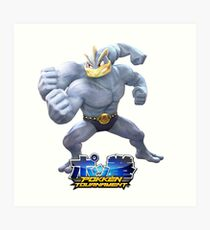 Pokken Tournament Machamp Art Print
