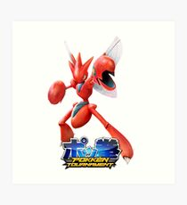 Pokken Tournament Scizor Art Print