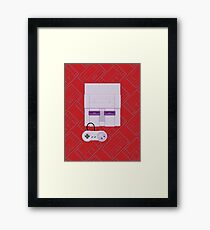 Retro Purple 16-bit Champion Framed Print