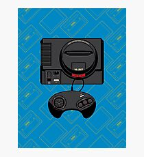Retro Black 16-bit Warrior Photographic Print