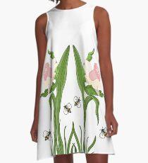 Buzzed Daffodils A-Line Dress