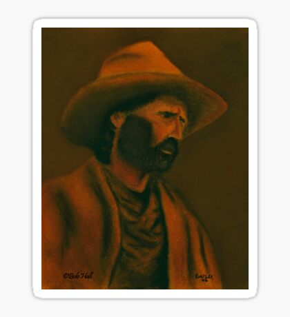 TENNESSEE SODBUSTER, Pastel Painting, for prints and products Sticker