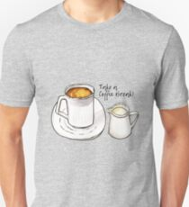 Coffee Break Watercolor and Ink Illustration  T-Shirt