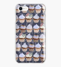 Watercolor Cupcakes Pattern iPhone Case/Skin