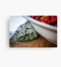 Cat Food and the Frog Canvas Print