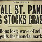 1929 Wall Street Stock Market Crash by mindydidit