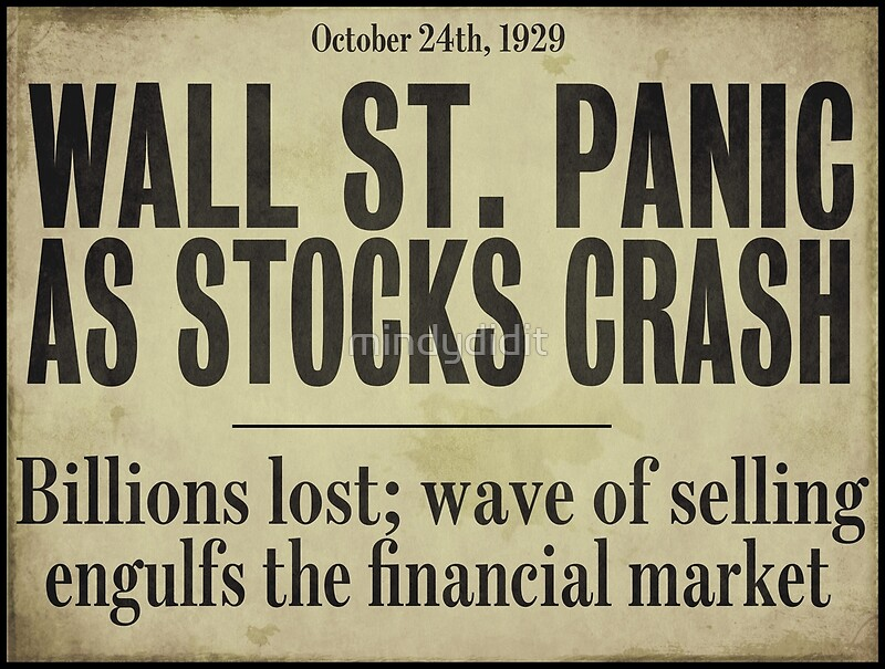 stock market crash essays The stock market crash of 1929 was one of many stock market crashes throughout the history, but it definitely was one, if not the most important one in the history first of all, it is important to know what the stock market is and what role it plays in our lives, both at the time of the great crash and now.