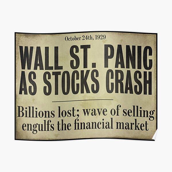 1929 Wall Street Stock Market Crash Poster