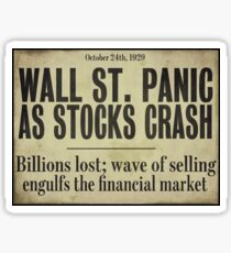 1929 Wall Street Stock Market Crash Sticker