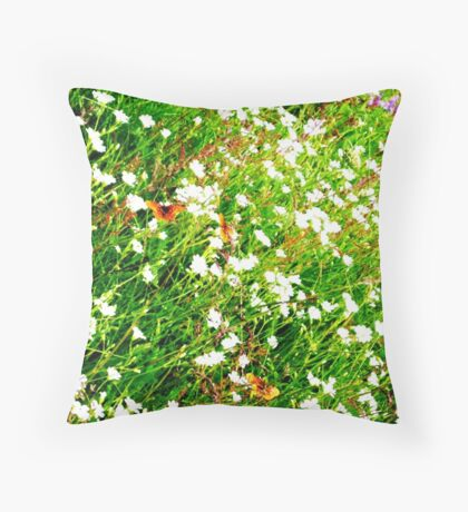 Butterfly Friendly Flowers Throw Pillow