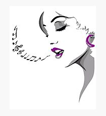 Lady of Song Photographic Print