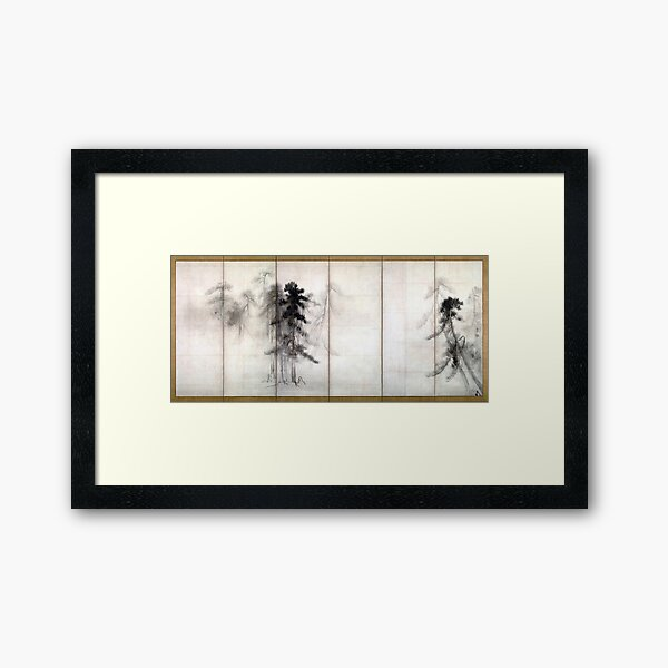 Hasegawa Tōhaku Pine Trees Framed Art Print