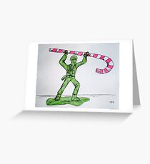 Candy Soldier Greeting Card