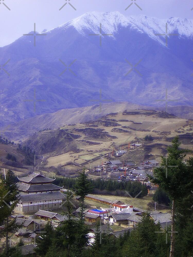 Tibetan Village by KLiu