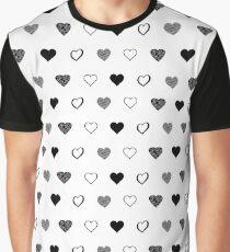 Black Hearts Graphic T-Shirt