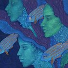 The Waiting, mermaids & fish, underwater fantasy by clipsocallipso