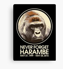 Never Forget Harambe Canvas Print