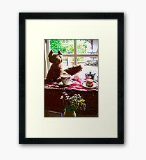 Afternoon Tea at Glenveagh Castle, Donegal, Ireland Framed Print