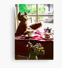 Afternoon Tea at Glenveagh Castle, Donegal, Ireland Canvas Print