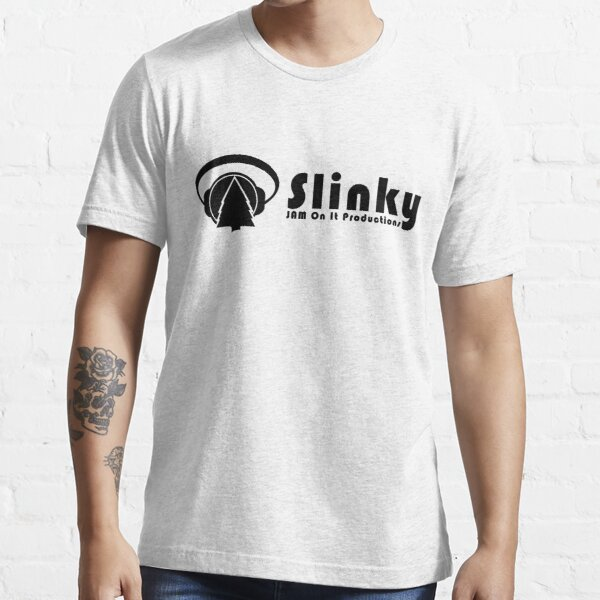 BLK-Slinky Banner Logo and Font Essential T-Shirt