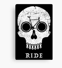 Bike Skull RIDE  Canvas Print