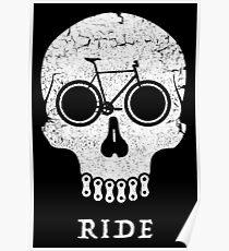 Bike Skull RIDE  Poster