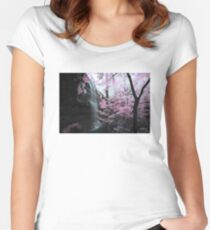Cornelius Falls, Heber Springs - Infrared 1 Women's Fitted Scoop T-Shirt
