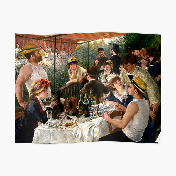 The lunch boaters auguste renoir Poster