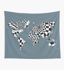 Two Tone World Wall Tapestry