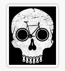Bike Skull (No Text) Sticker