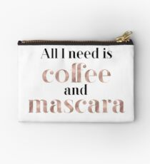 Rose gold beauty - all I need is coffee and mascara Studio Pouch