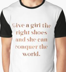 Rose gold shoe love Graphic T-Shirt