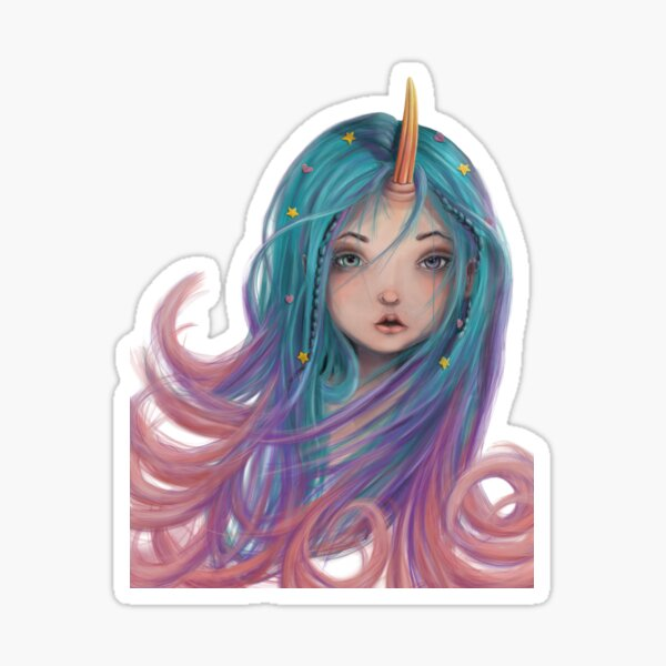 Unicorn Girls Love Best Sticker