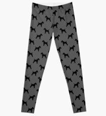 Wire Fox Terrier Silhouette(s) Leggings