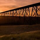 High Level Bridge, Lethbridge, Alberta by Amanda White
