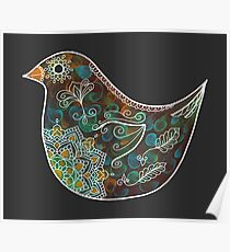 Bird with White Detail Poster