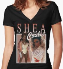 Throwback Shea Couleé Women's Fitted V-Neck T-Shirt