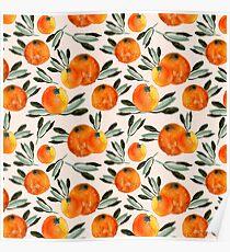 Sunny orange Poster