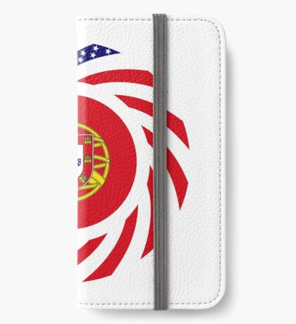 Portuguese American Multinational Patriot Flag Series iPhone Wallet