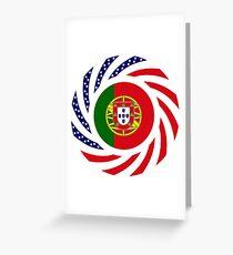 Portuguese American Multinational Patriot Flag Series Greeting Card