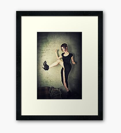 Kick It! Framed Print