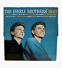 The Everly Brothers' Best, Rockabilly lp Photographic Print