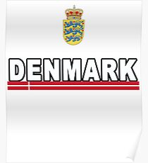 Denmark or Danmark Football Danish Team Poster