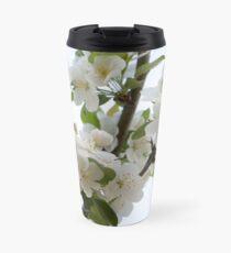 White Blossoms Travel Mug