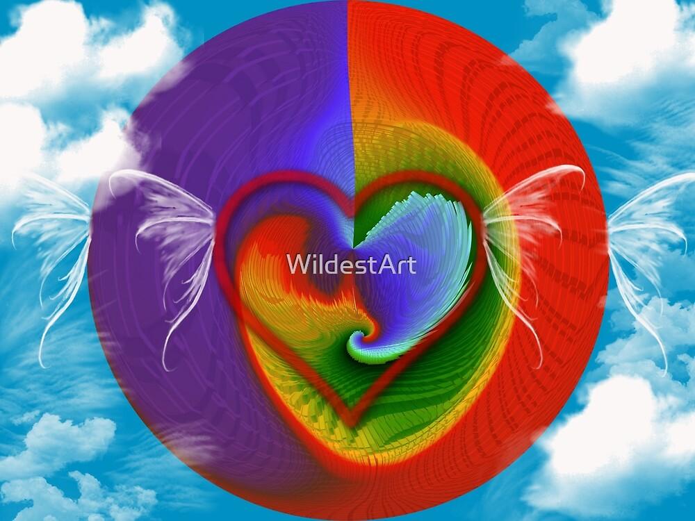 Hearts Flying by WildestArt